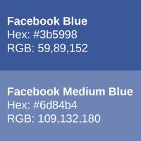 Facebook shades of blue